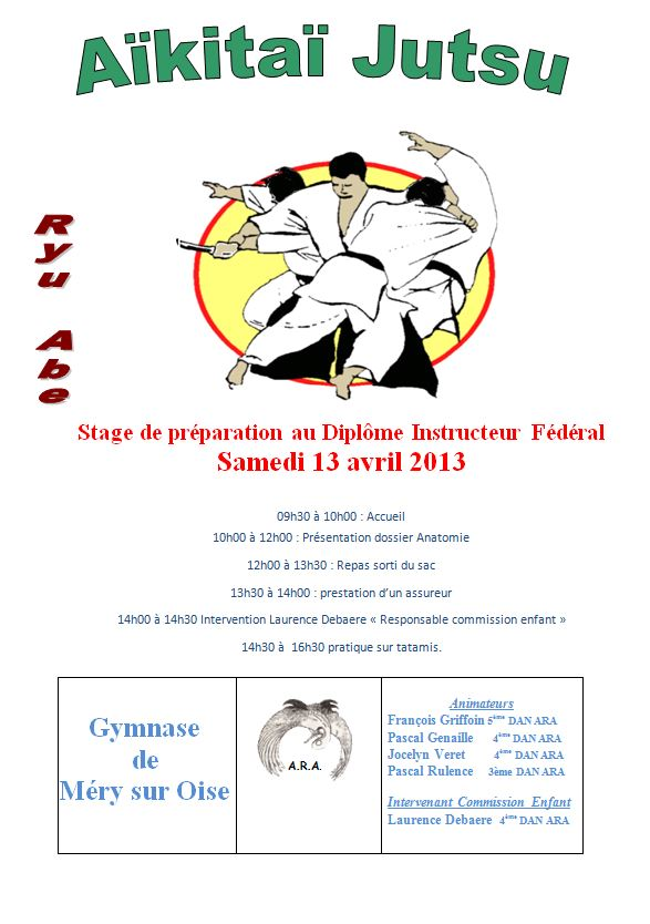 Aikido stage DIF à Méry